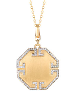 Ivanka Trump Metropolis 18k Solid Octagonal Pendant with Deco Diamonds