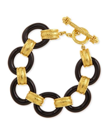 19k Gold & Black Jade Bracelet