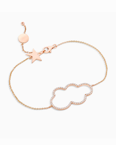 18k Rose Gold Small Cloud Diamond Bracelet