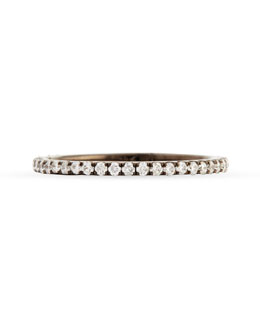 Bessa 18k Black Gold & Pave White Diamond Micro Band Ring