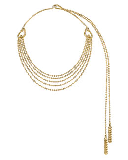 Forevermark 18k Yellow Gold Ball Lariat Necklace with White Diamonds