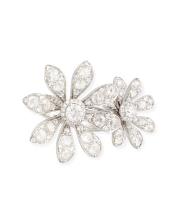 Maria Canale for Forevermark 18k White Gold Diamond Double Flower Ring