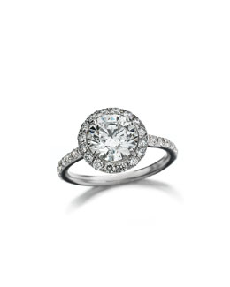 Forevermark 18k White Gold Center of My Universe Solitaire Diamond Ring, 1.63 TCW
