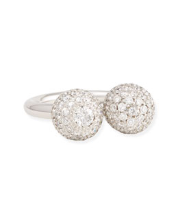 Maria Canale for Forevermark 18k White Gold Pave White Diamond Ball Ring, 1.77 TCW