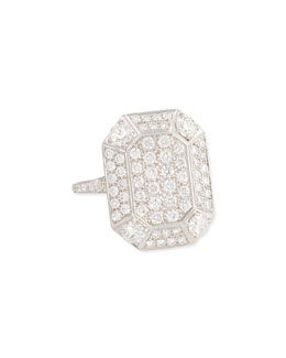 Maria Canale for Forevermark 18 White Gold Pave Diamond Ring