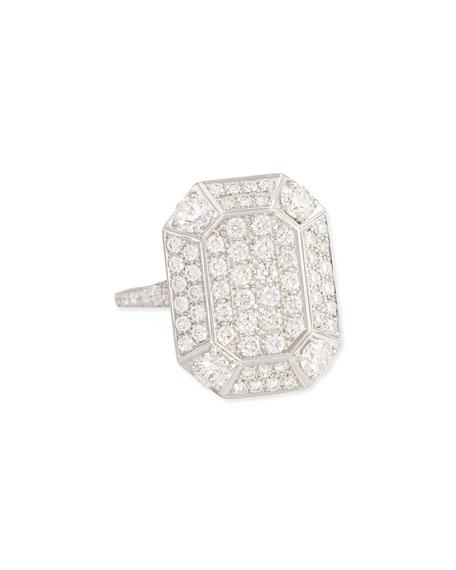 18 White Gold Pave Diamond Ring