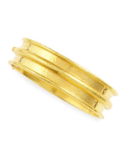 Elizabeth Locke Medium 19k Gold Channeled Bangle