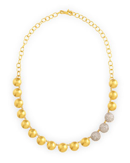 Gurhan Lentil Ice 24k Gold & Diamond Necklace