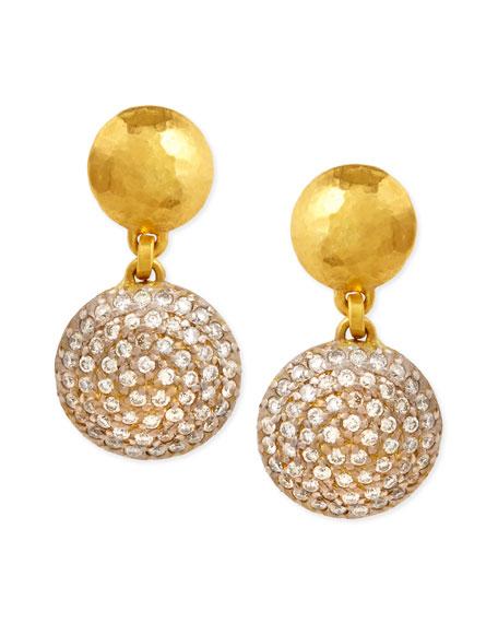 Gurhan Lentil Ice 24k Gold & Diamond Drop