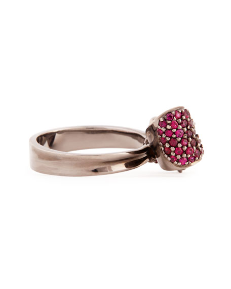 Bow Small 18k Gold Ruby Ring