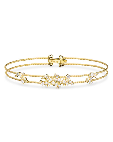 Paul Morelli Diamond Confetti Double Wire Bracelet, Yellow