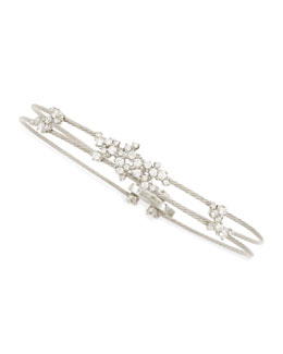 Paul Morelli Diamond Confetti Double Wire Bracelet, White Gold