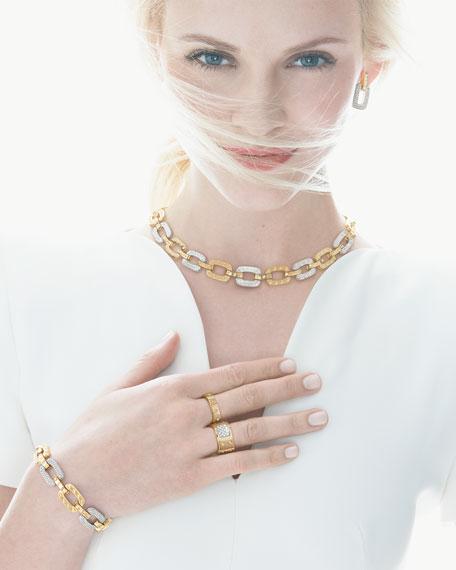 Pois Moi 4-Diamond Square Link Bracelet, Yellow Gold