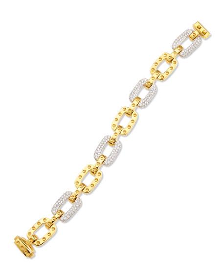 Roberto Coin Pois Moi 4-Diamond Square Link Bracelet,
