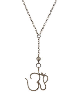 Sheryl Lowe Pave Diamond Ohm Pendant Necklace