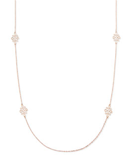 Frederic Sage Eloise 18k Pink Gold Polished Necklace, 35""