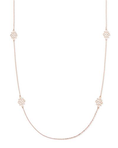 Eloise 18k Pink Gold Polished Necklace, 35
