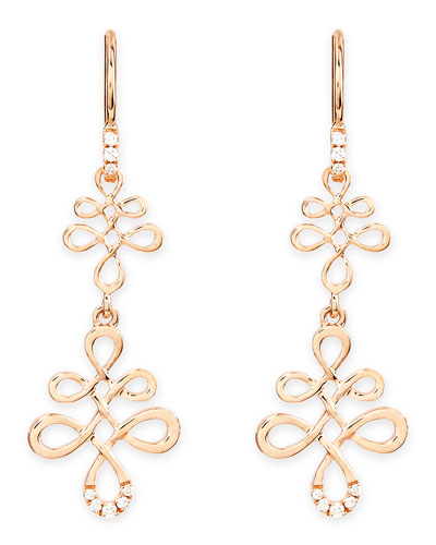 Frederic Sage Eloise 18k Pink Gold & Diamond Earrings