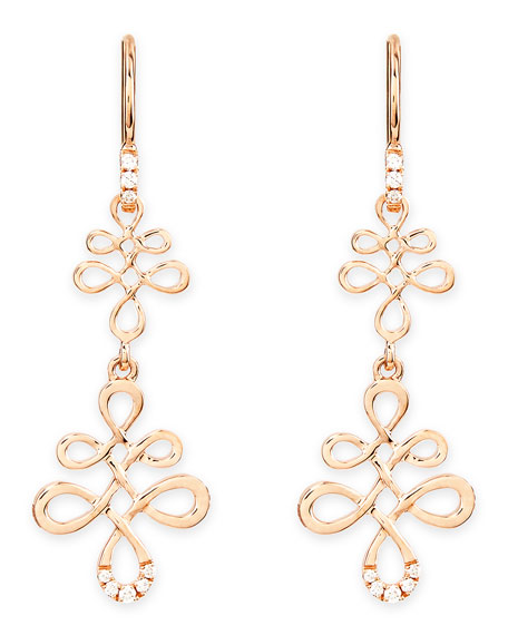 Eloise 18k Pink Gold & Diamond Earrings