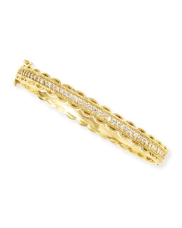 Penny Preville Pave Diamond & Scalloped Edge Bangle