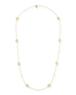 Penny Preville Lace Signature Chain Necklace with Diamonds, 34""