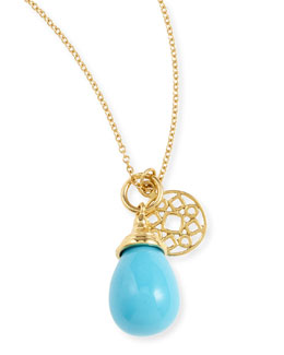 Syna Mogul Small Turquoise Drop Pendant Necklace