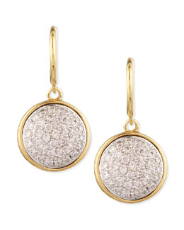 Syna 18k 10mm Chakra Champagne Diamond Earrings