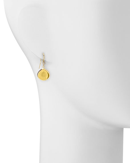 Mogul 18k Gold Citrine Earrings with Diamond