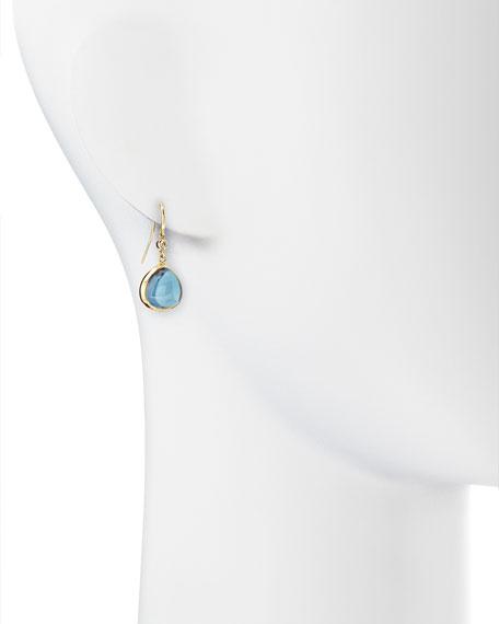 Mogul 18k Gold London Blue Topaz Earrings with Diamond