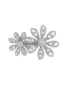 Maria Canale for Forevermark Aster Collection 18k White Gold Diamond Double-Flower Ring