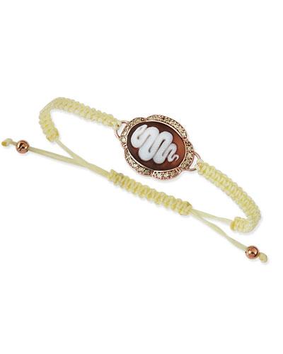 AMEDEO Snake Cameo Braided Bracelet