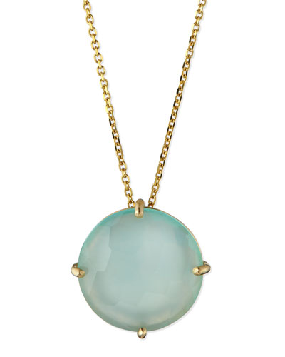 Suzanne Kalan 14k Yellow Gold 12mm Round Chalcedony Necklace