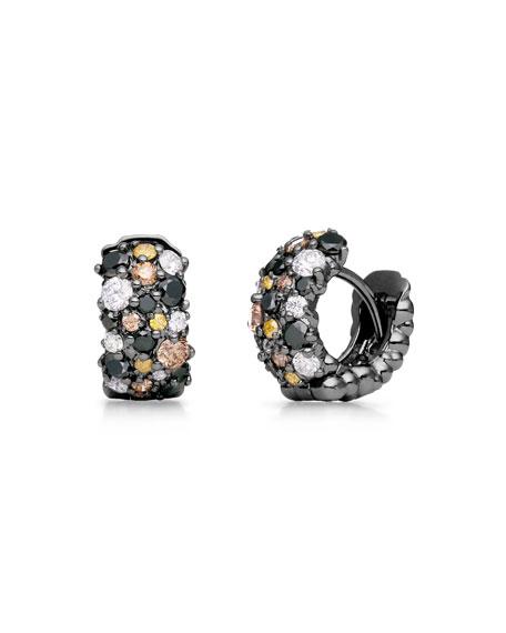 Paul Morelli Small Multicolor Diamond Confetti Hoop Earrings