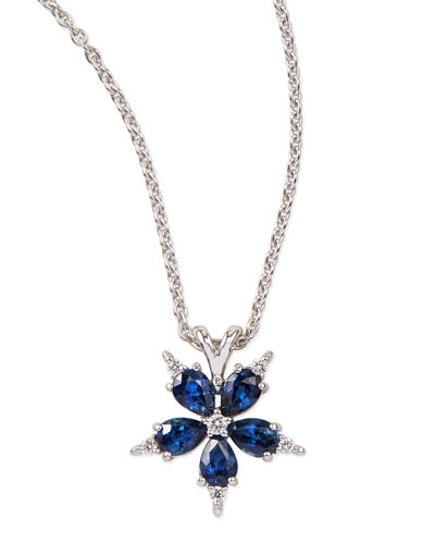 Paul Morelli Small Stellanise Blue Sapphire & Diamond Pendant Necklace