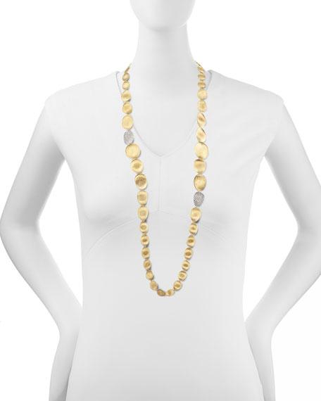 "Diamond Lunaria 18k Gold Necklace, 36""L"