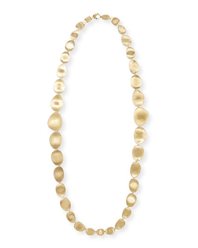 "Lunaria 18k Gold Necklace, 36""L"