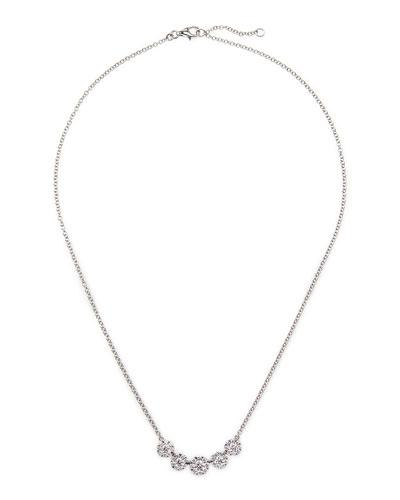 Rina Limor 18k White Gold Floral Diamond Necklace