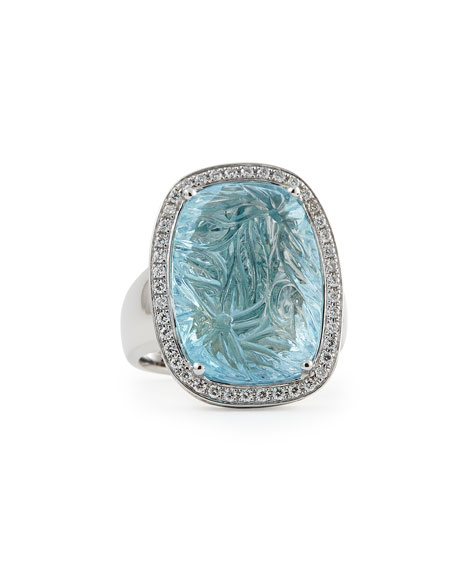 Rina Limor Medium Bouquet Carved Blue Topaz &