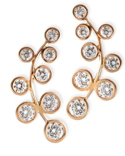 Rina Limor 18k Rose Gold & Diamond Climber Earrings