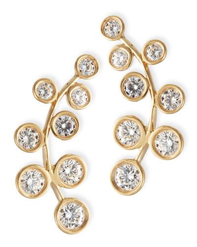 Rina Limor 18k Yellow Gold & Diamond Climber Earrings