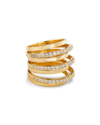 LANA Fatale Gold Crown Ring with Diamonds
