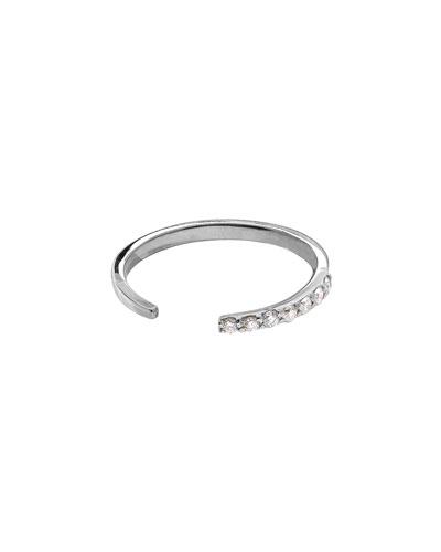 LANA 14k White Gold Diamond Femme Echo Ring