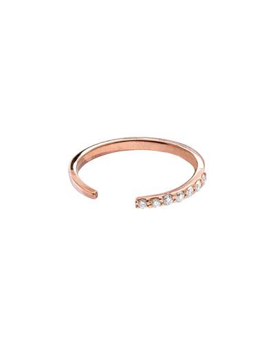 LANA 14k Rose Gold Diamond Femme Echo Ring
