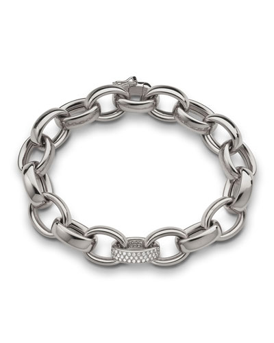 18k White Gold Marilyn Link Bracelet