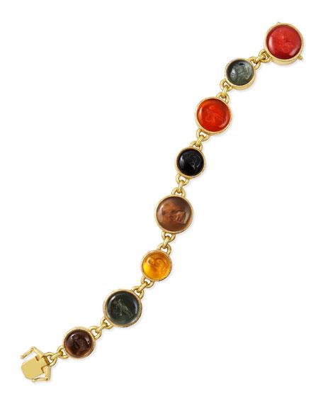 Elizabeth Locke Venetian Glass Intaglio Tennis Bracelet, Neutral