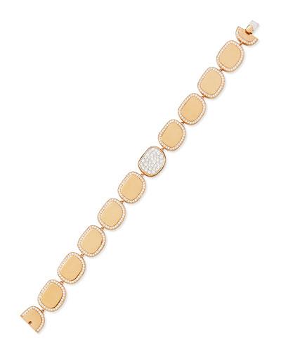 Robert Coin 18k Rose Gold Diamond African Jade Collection Bracelet