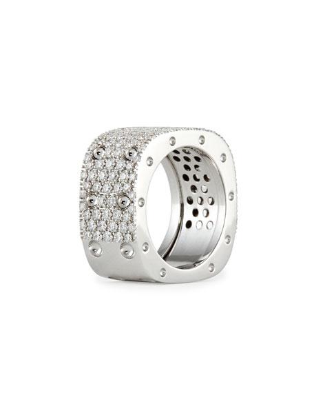 Pois Moi 18k White Gold & White Diamond 2-Row Ring
