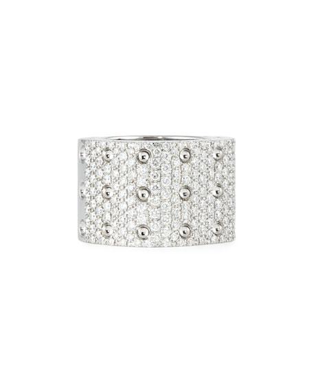 Pois Moi 18k White Gold & White Diamond 3-Row Ring