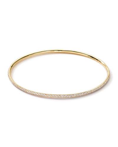 Ippolita 18k Gold Stardust Bangle with Diamonds