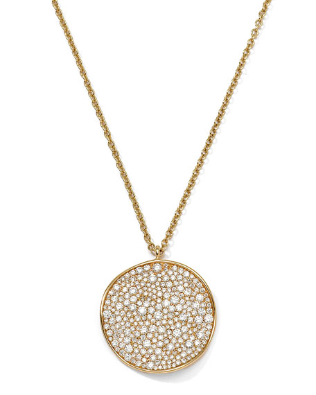 Ippolita 18K Gold Stardust Wavy Disc Pendant Necklace